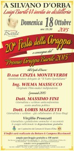 Locandina 20^ Festa Grappa Barile 2015